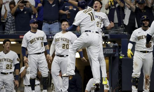 Tellez HR, throw spark Brewers over Braves 2-1 in Game 1